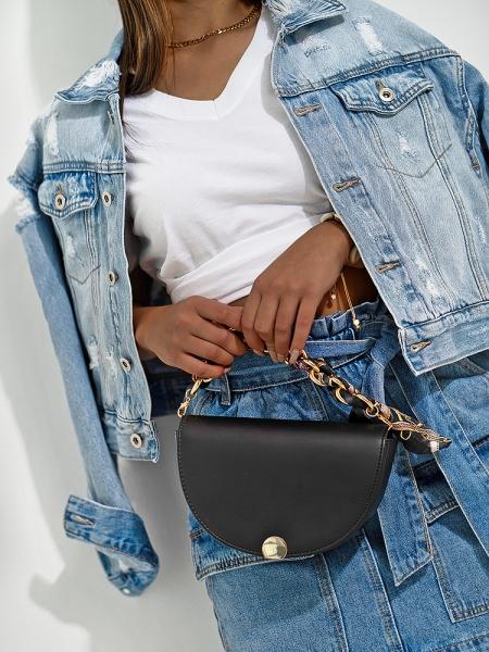 HALF CIRCLE BLACK BAG