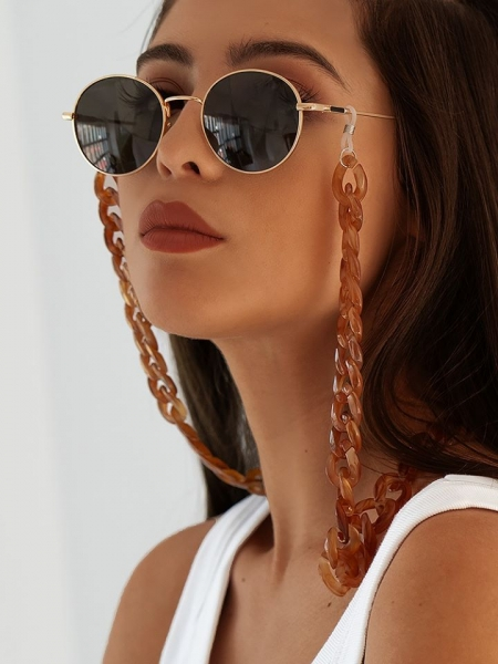 ΑΛΥΣΙΔΑ ΓΥΑΛΙΩΝ FEDORA CARAMEL CHAIN FOR SUNNIES