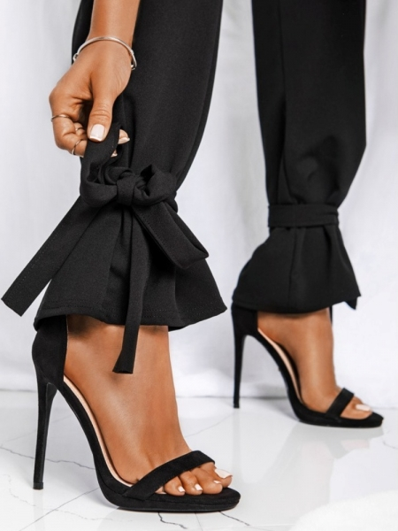 COLONEL SUEDE BLACK SANDALS
