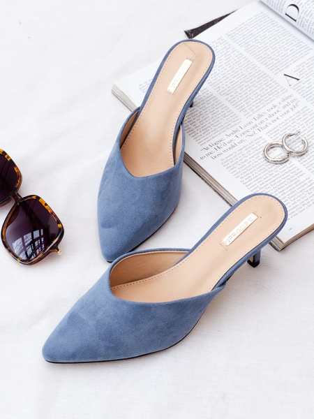 LIGHT BLUE MOUSE MULES