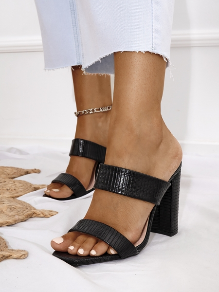 SPIRIT BLACK MULES