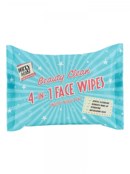 DIRTY WORKS MULTI-TASKING 4-IN-ONE FACE WIPES