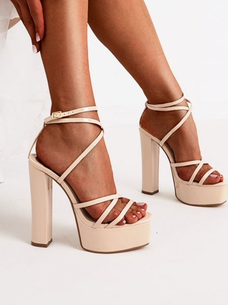 PUPA NUDE VERNIS SANDALS