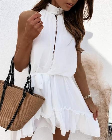 TAFFY WHITE DRESS