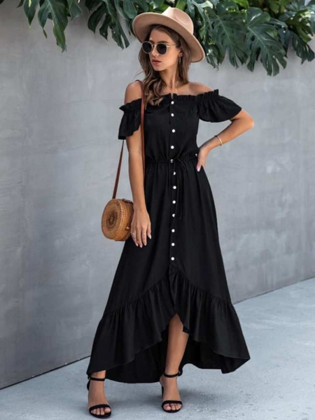 ELYSE BLACK MAXI DRESS