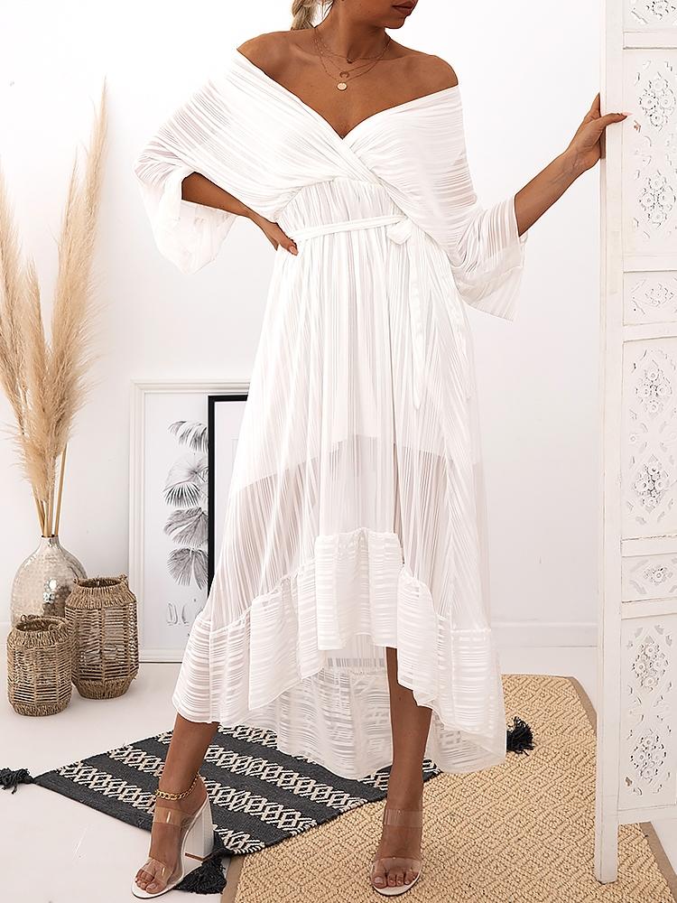 ODETTE WHITE  MAXI DRESS