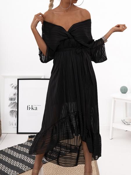 ODETTE BLACK MAXI DRESS