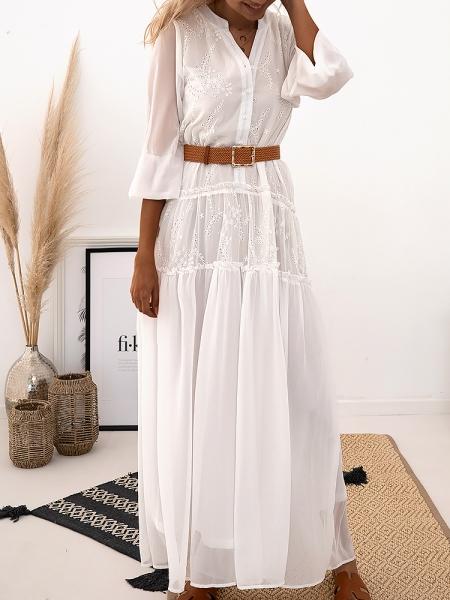 BRIANNA MAXI WHITE DRESS