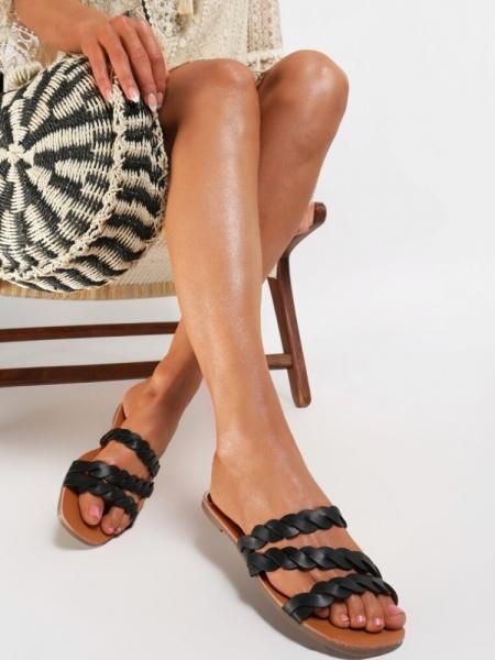 ADA BLACK SLIPPERS