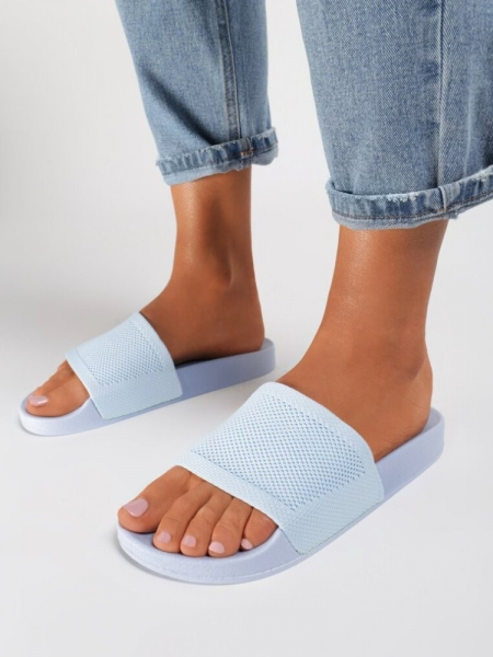 MACI BABY BLUE  SLIDERS