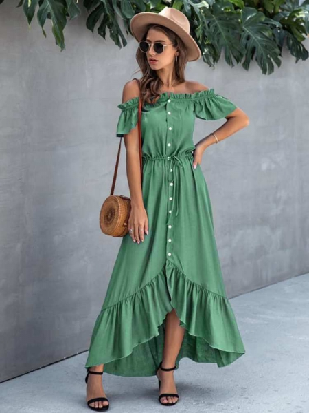 ELYSE GREEN  MAXI DRESS