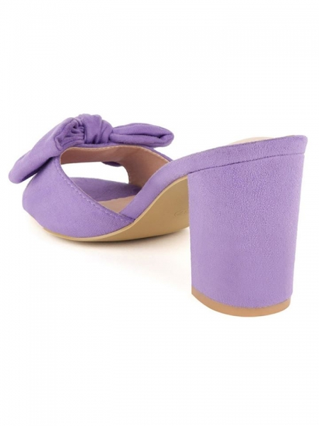 LILLAC BOW SUEDE  MULES