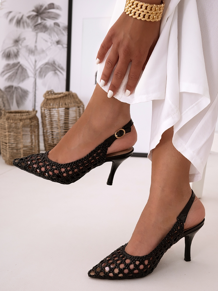COLLEY BLACK SANDALS