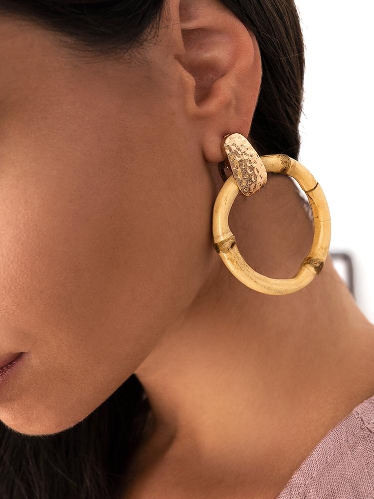 MINA BAMBOO EARRINGS