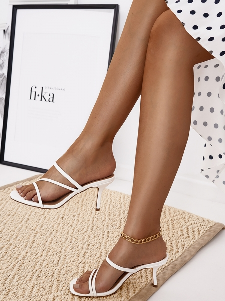 THIEVERY WHITE STRAP MULES