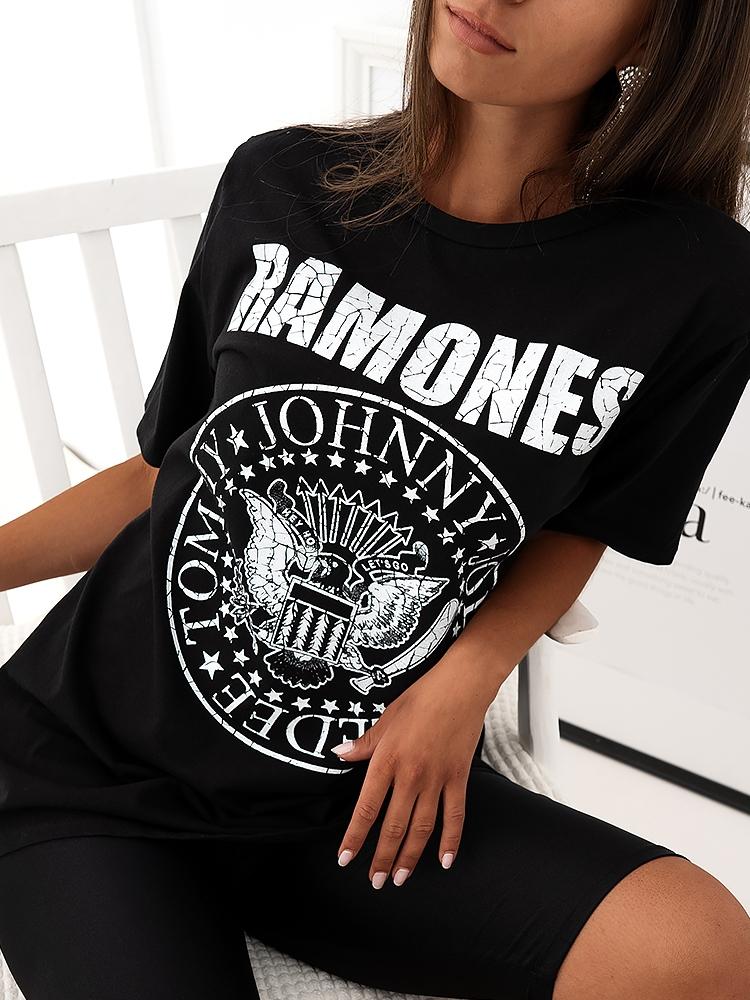 RAMONES BLACK MAXI T-SHIRT