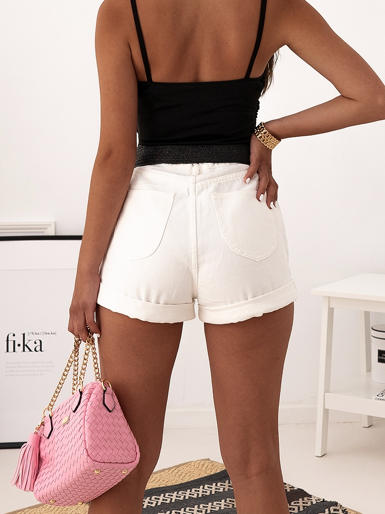 BRIELLA WHITE JEAN SHORTS