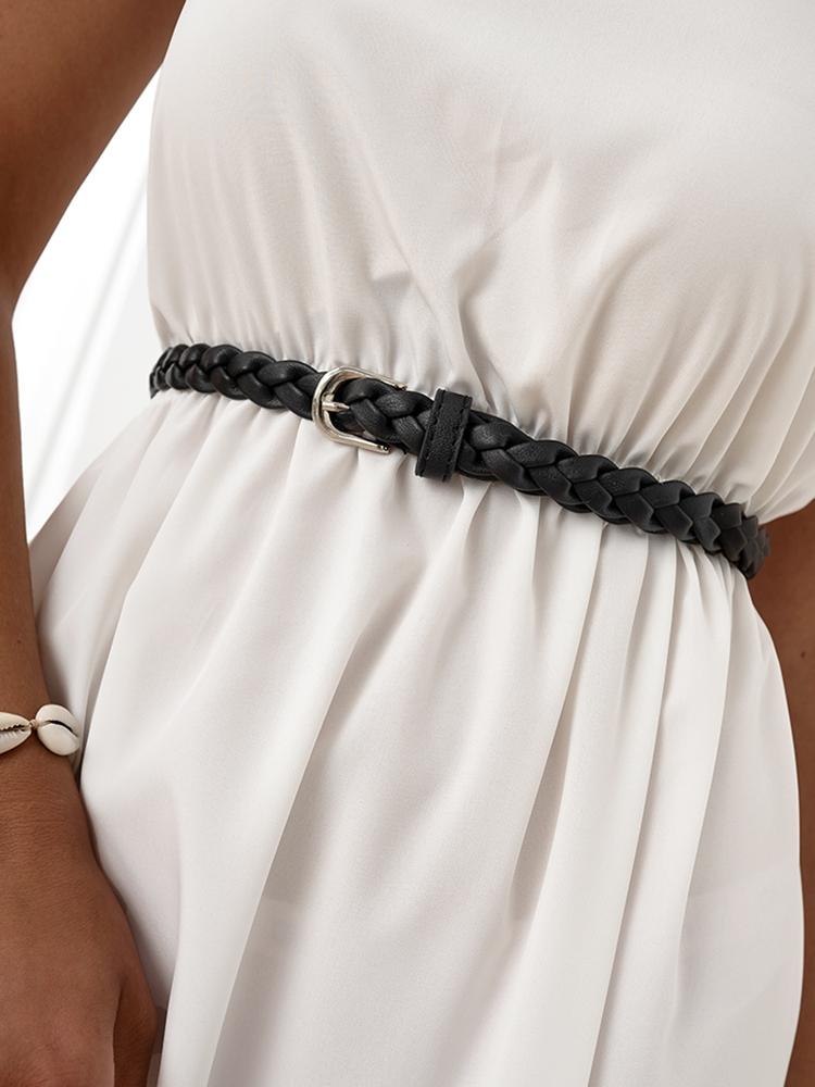 BRAID BLACK SLIM BELT