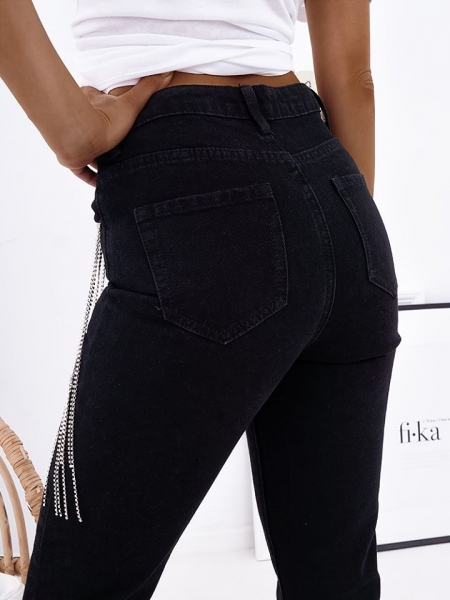 LEVELS BLACK MOM FIT JEANS