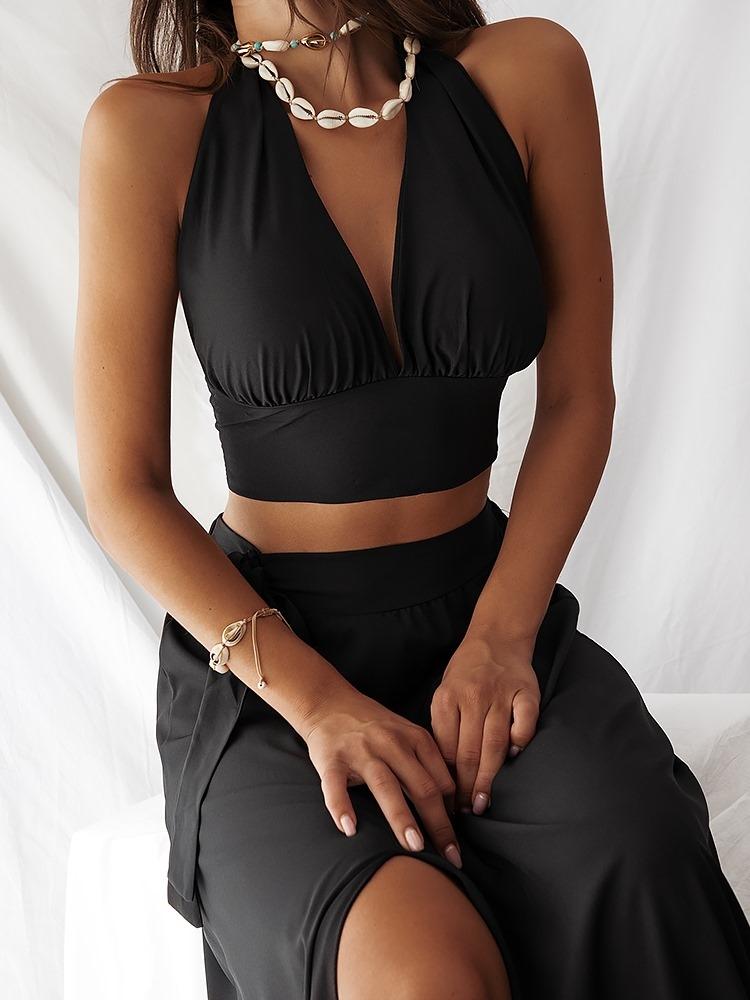 RIVIERA BLACK SET SKIRT & TOP