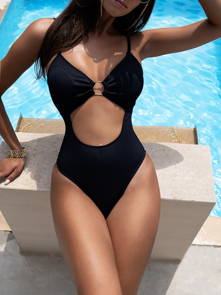 LOTUS BLACK MONOKINI