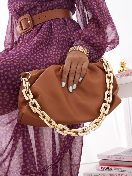 NORVIL CAMEL SHOULDER BAG