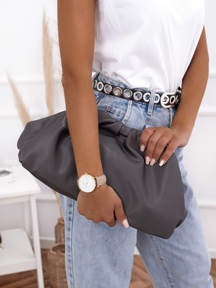 THE B GREY POUCH
