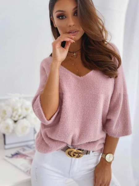 FRANCIS PINK KNITTED BLOUSE