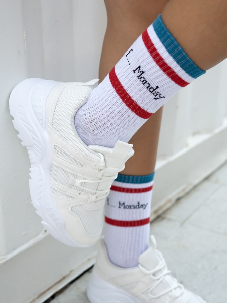F MONDAY BASKET SOCKS