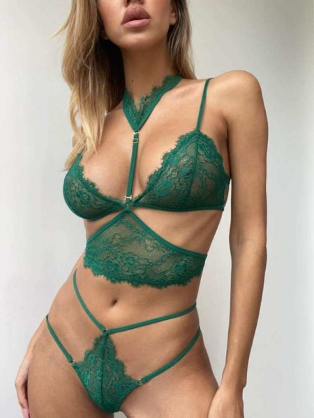 SPICY GREEN LINGERIE SET