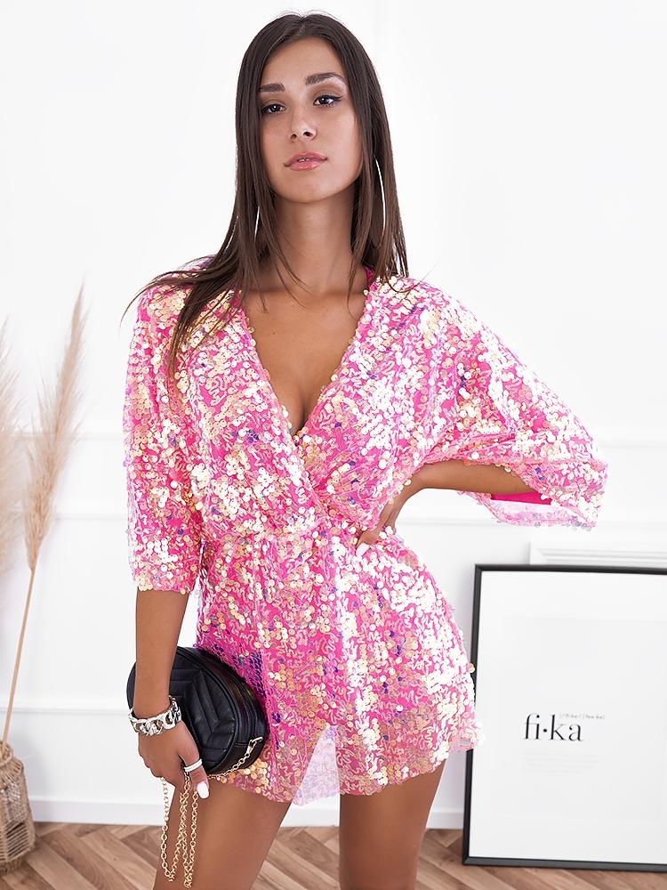 ANTONIA PINK SEQUIN DRESS