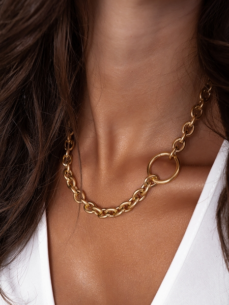 VALLIERE GOLD CHAIN NECKLACE