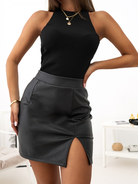 MERLIN MINI LEATHER SKIRT