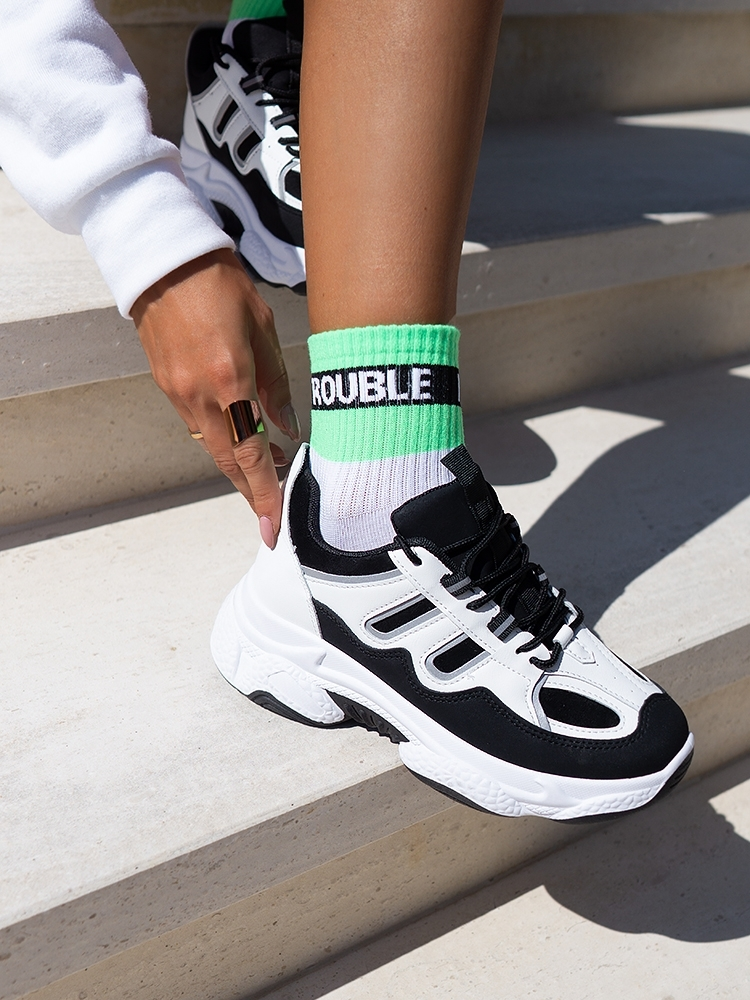 TROUBLE MAKER BASKET SOCKS