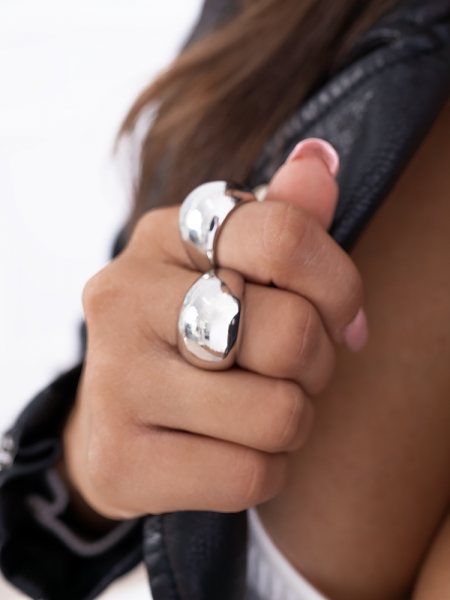 BUBBLE SILVER RING