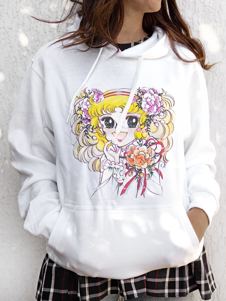 CANDY CANDY WHITE HOODIE