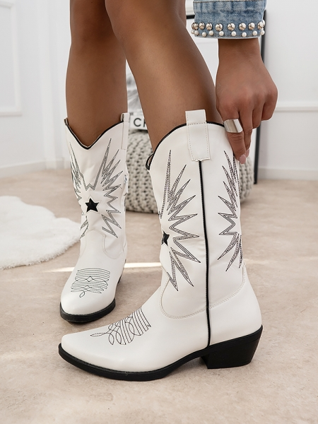 TEXAS WHITE COWBOY BOOTS