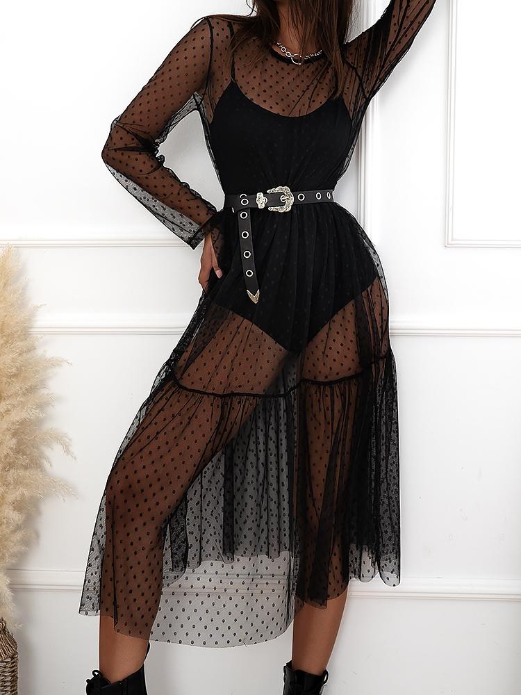 BLACK WIDOW SEE-THROUGH DRESS