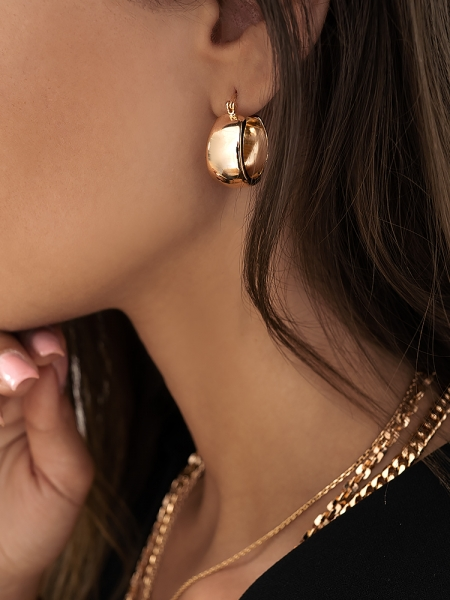 LORETTA ROSE GOLD EARRINGS