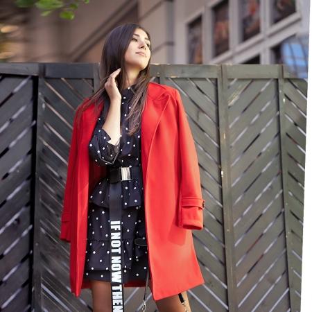 CRESTIA RED COAT