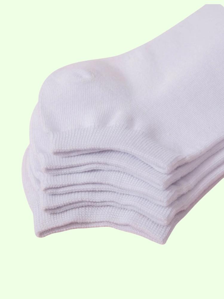 5 PACK WHITE TRAINER SOCKS