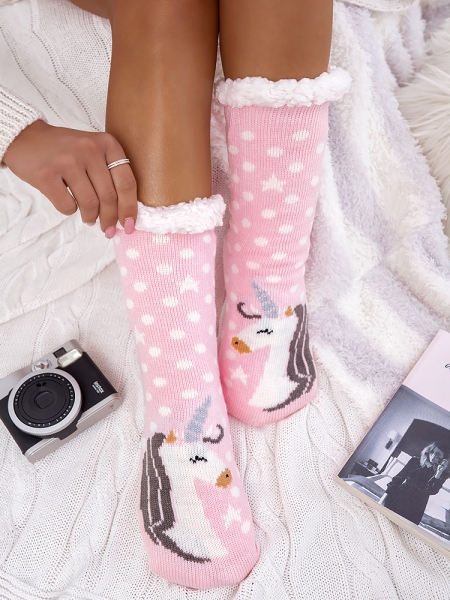 UNICORN PINK SLIPSOCKS
