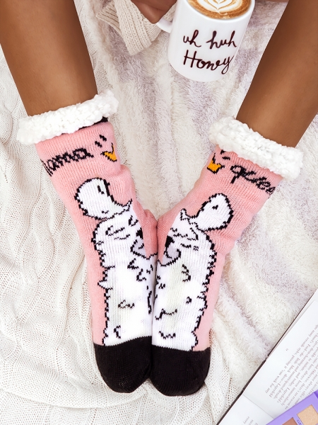 LAMA PINK SLIPSOCKS