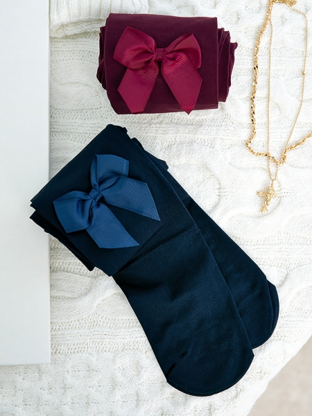 BOW OPAQUE TIGHTS