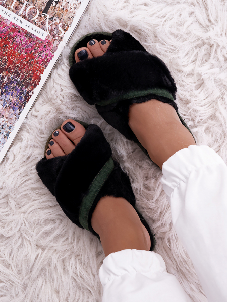 MARIEN BLACK SLIPPERS