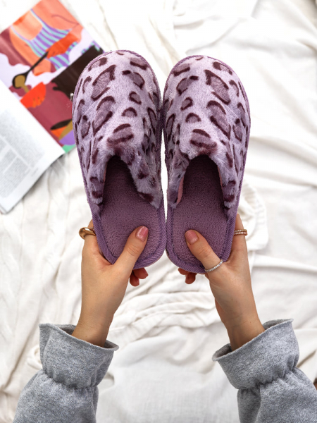 PURPLE LEOPAR SLIPPERS