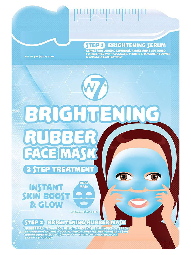 W7 BRIGHTENING 2 STEP TREATMENT RUBBER FACE MASK