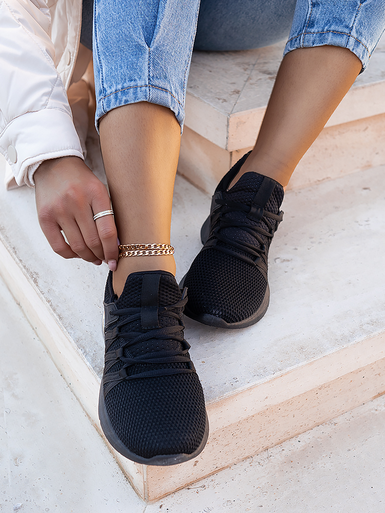 CLAIRE BLACK SNEAKERS
