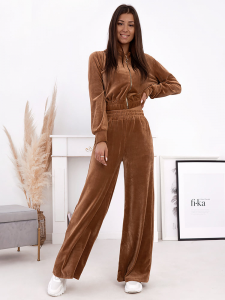 EVELIN CAMEL VELOUR SET
