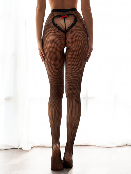 OPEN HEART NET TIGHTS